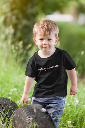 Toddler Born To Hockey Core Tee Black - Conway + Banks Hockey Co.