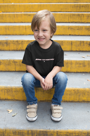 Youth Born To Hockey Core Tee Black - Conway + Banks Hockey Co.