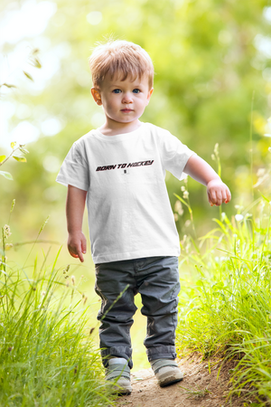 Toddler Born To Hockey Core Tee White - Conway + Banks Hockey Co.