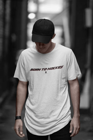 Mens Born To Hockey Core Tee White - Conway + Banks Hockey Co.