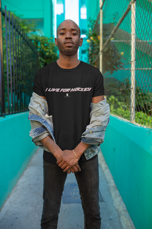 Mens I Live For Hockey Core Tee Black - Conway + Banks Hockey Co.