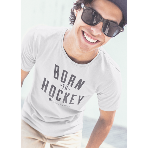 Born to Hockey Tee Mens-Mens-Conway + Banks Hockey Co.-Conway and Banks Hockey Co.