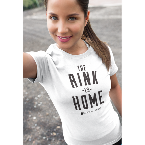 The Rink Is Home Tee Womens - Conway + Banks Hockey Co.