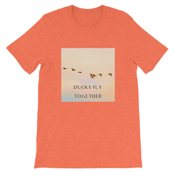 Ducks Fly Together Mens Tee-Mens-Conway + Banks Hockey Co.-Heather Orange-S-Conway and Banks Hockey Co.