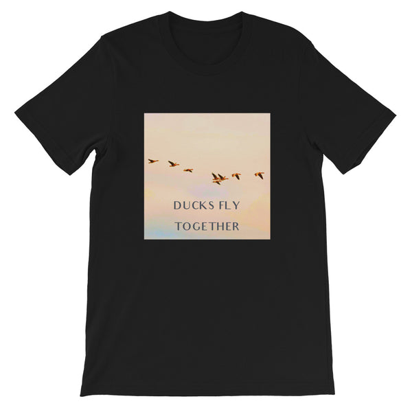 Ducks Fly Together Mens Tee-Mens-Conway + Banks Hockey Co.-Black-XS-Conway and Banks Hockey Co.