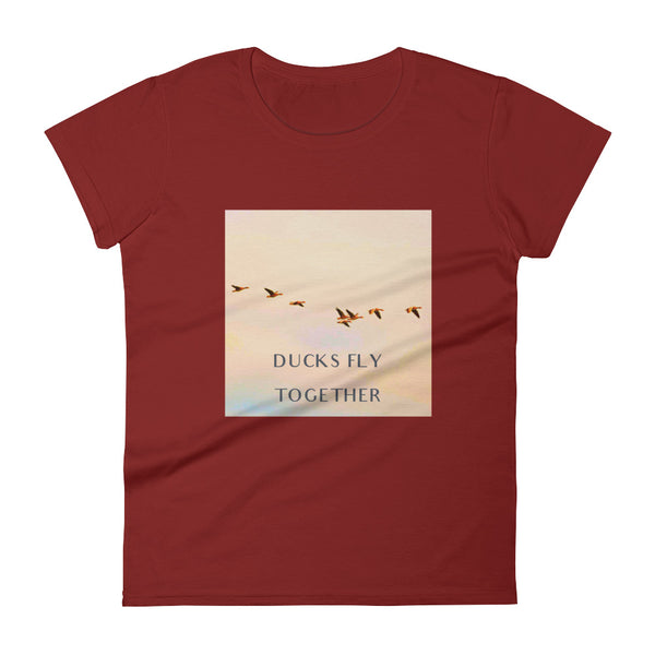 Ducks Fly Together Womens Tee - Conway + Banks Hockey Co.