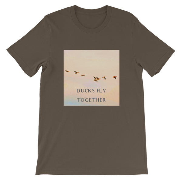 Ducks Fly Together Mens Tee-Mens-Conway + Banks Hockey Co.-Army-S-Conway and Banks Hockey Co.