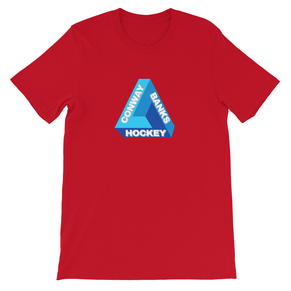 Impossible CB Hockey Mens Tee-Mens-Conway + Banks Hockey Co.-Red-3XL-Conway and Banks Hockey Co.