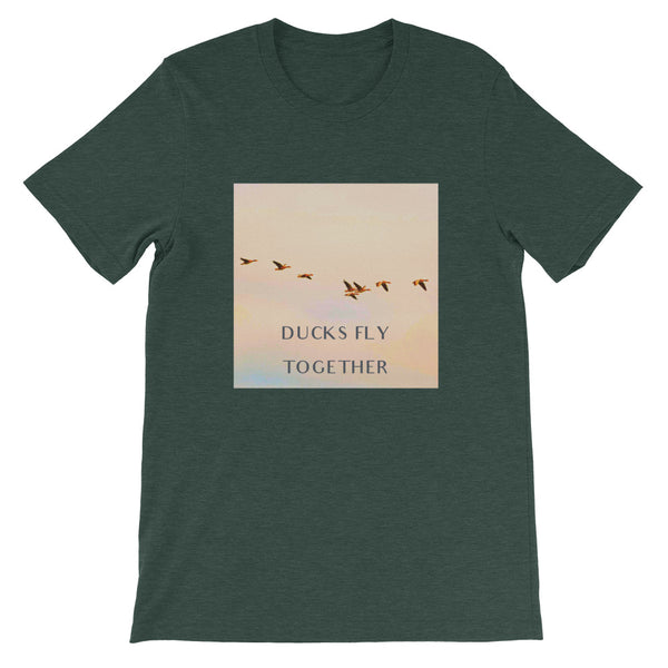 Ducks Fly Together Mens Tee-Mens-Conway + Banks Hockey Co.-Heather Forest-S-Conway and Banks Hockey Co.