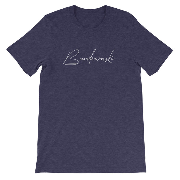 Bardownski Signature Mens Tee-Mens-Conway + Banks Hockey Co.-Heather Midnight Navy-XS-Conway and Banks Hockey Co.