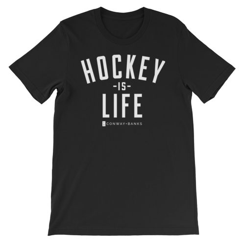 Hockey is Life Tee Mens-Mens-Conway + Banks Hockey Co.-Black-Extra Large-Conway and Banks Hockey Co.