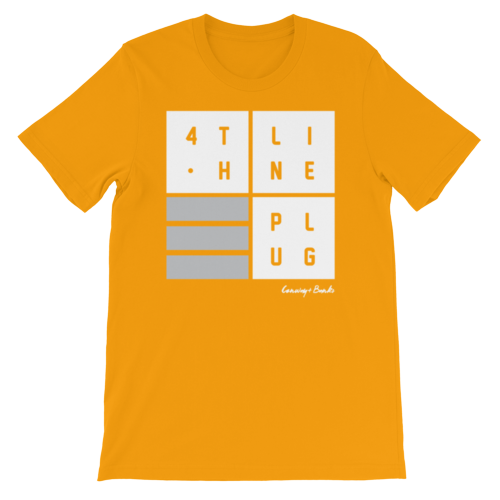 4th Line Plug Mens Tee-Mens-Conway + Banks Hockey Co.-Orange-Small-Conway and Banks Hockey Co.