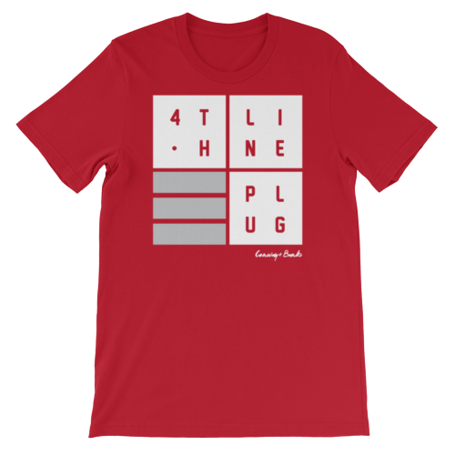 4th Line Plug Mens Tee-Mens-Conway + Banks Hockey Co.-Red-Small-Conway and Banks Hockey Co.