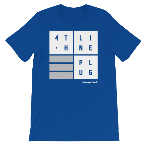 4th Line Plug Mens Tee-Mens-Conway + Banks Hockey Co.-Blue-Medium-Conway and Banks Hockey Co.