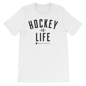 Hockey is Life Tee Mens-Mens-Conway + Banks Hockey Co.-White-Extra Large-Conway and Banks Hockey Co.
