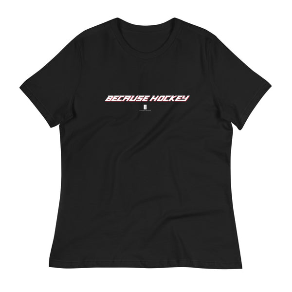 Womens Because Hockey Core Tee Black - Conway + Banks Hockey Co.