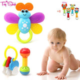 9PCS Big Baby Bottle Toy Set + FREE Plush Animal Rattle