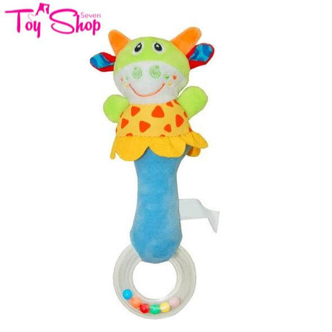 Cute Plush Animal Baby Rattle