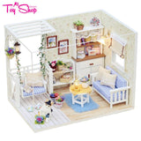 3D Wooden Doll House with Dust Cover and Led Light