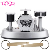 Mini Drum Set with Drumstick Keychain