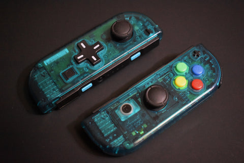 JoyCons Housing Mod - Clear Blue