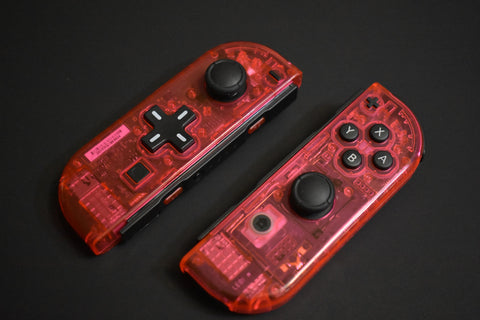 JoyCons Housing Mod - Clear Red