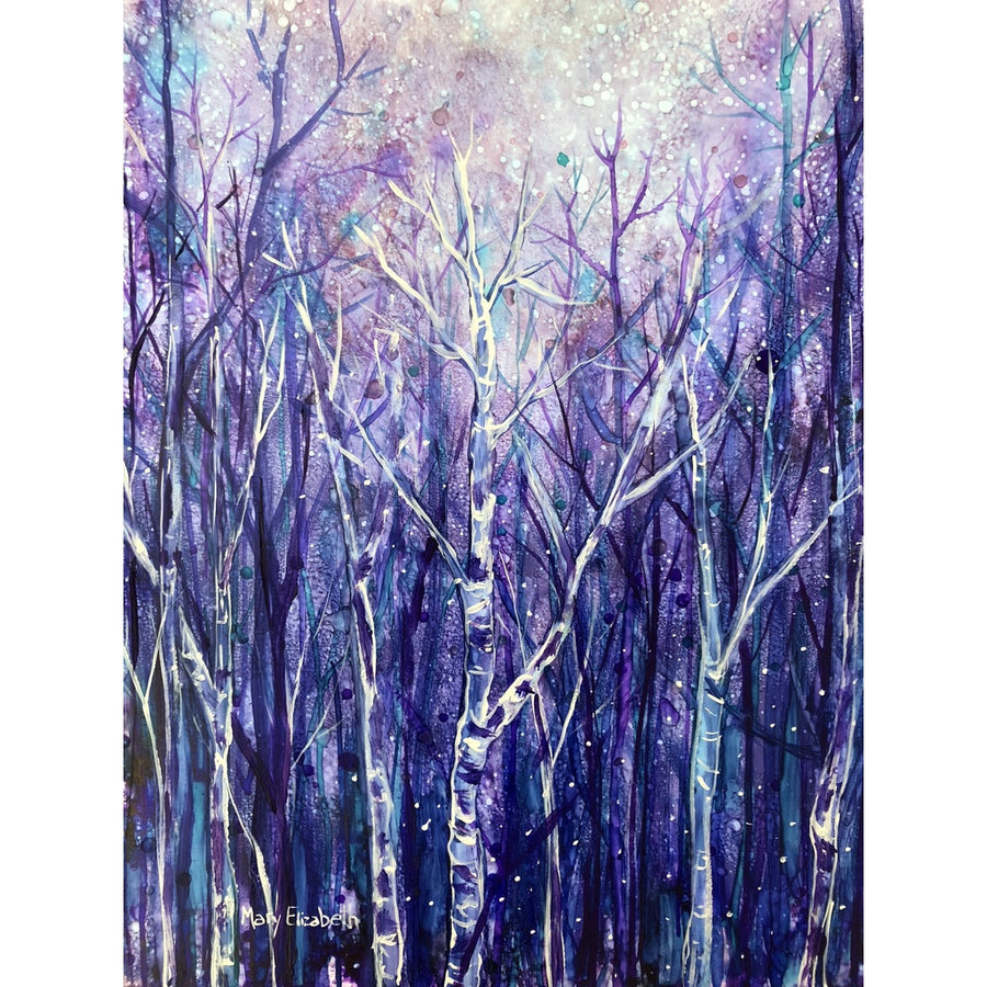 """Magical Night"" mixed media painting"