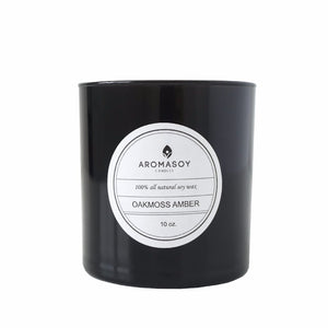 OAKMOSS AMBER Soy Candle Black Glass 10 oz