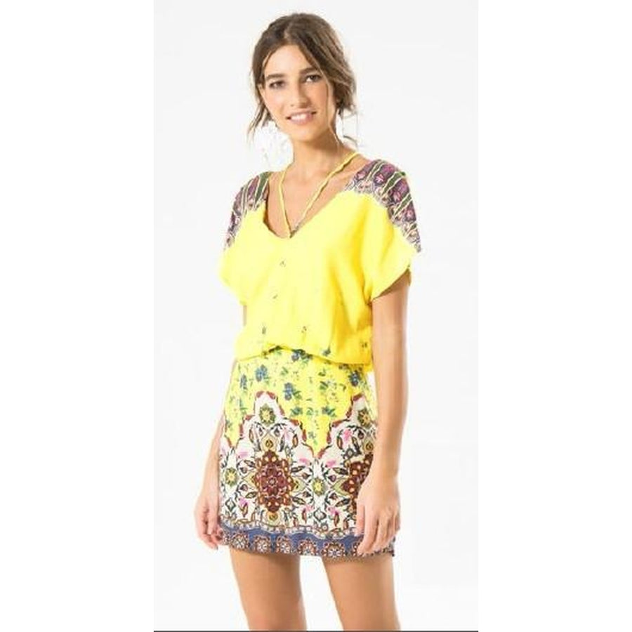 Yellow Barradise Mini Dress