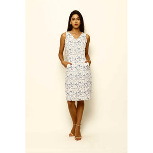 Xiara Hand Block Printed Cotton Dress