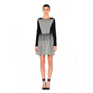 Short jacquard dress