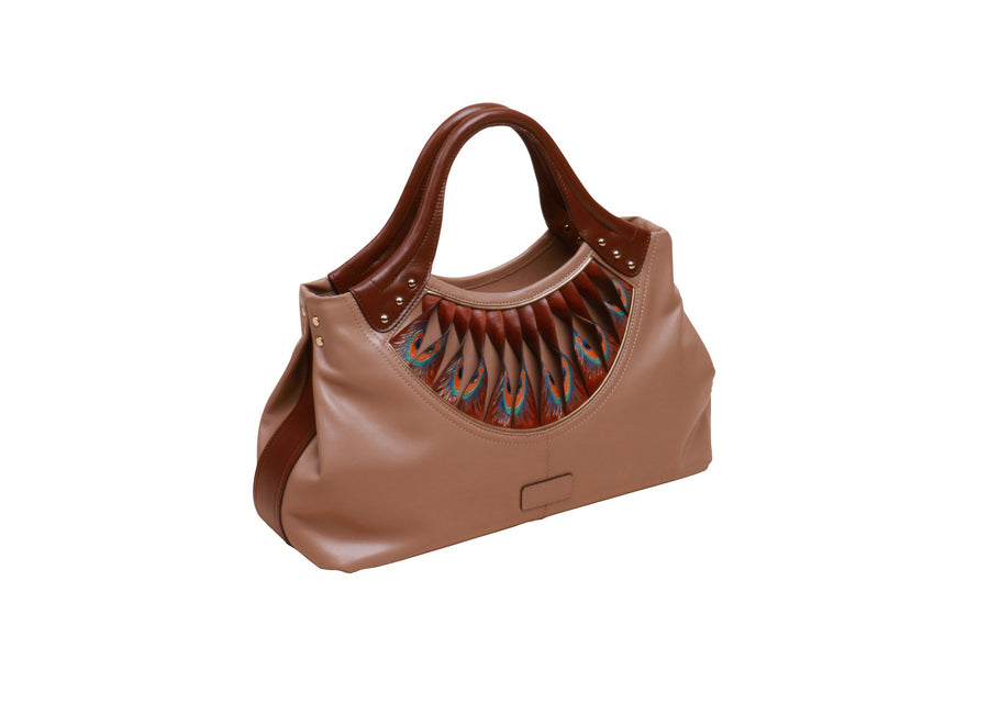 Feather Brown Tote