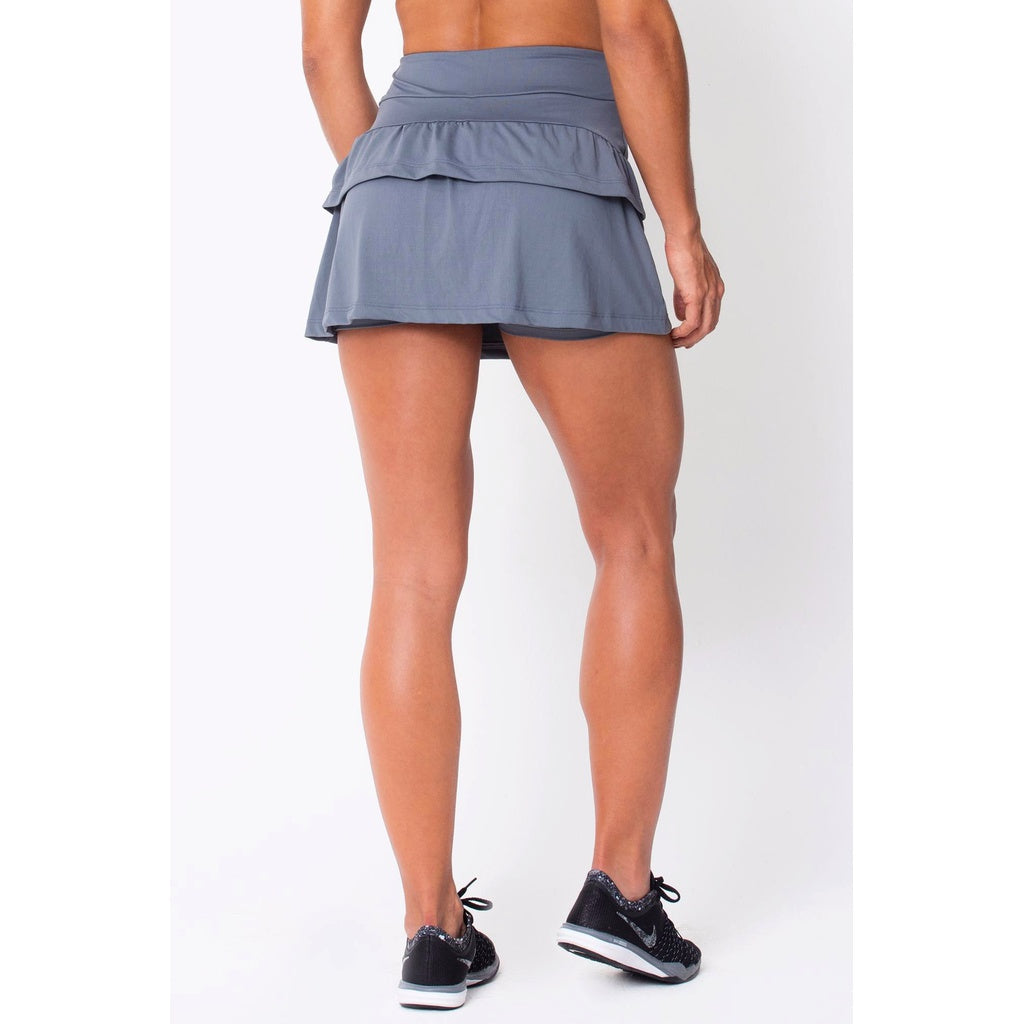 Grey	Ruffled Skort