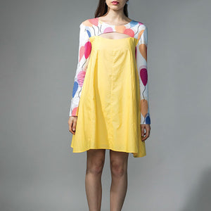 YELLOW TENT DRESS