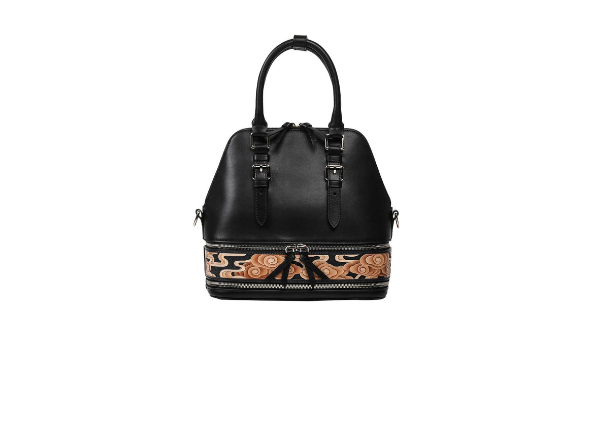Cloud Black Small Satchel