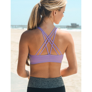 Lavender Strappy Sports / Yoga Bra