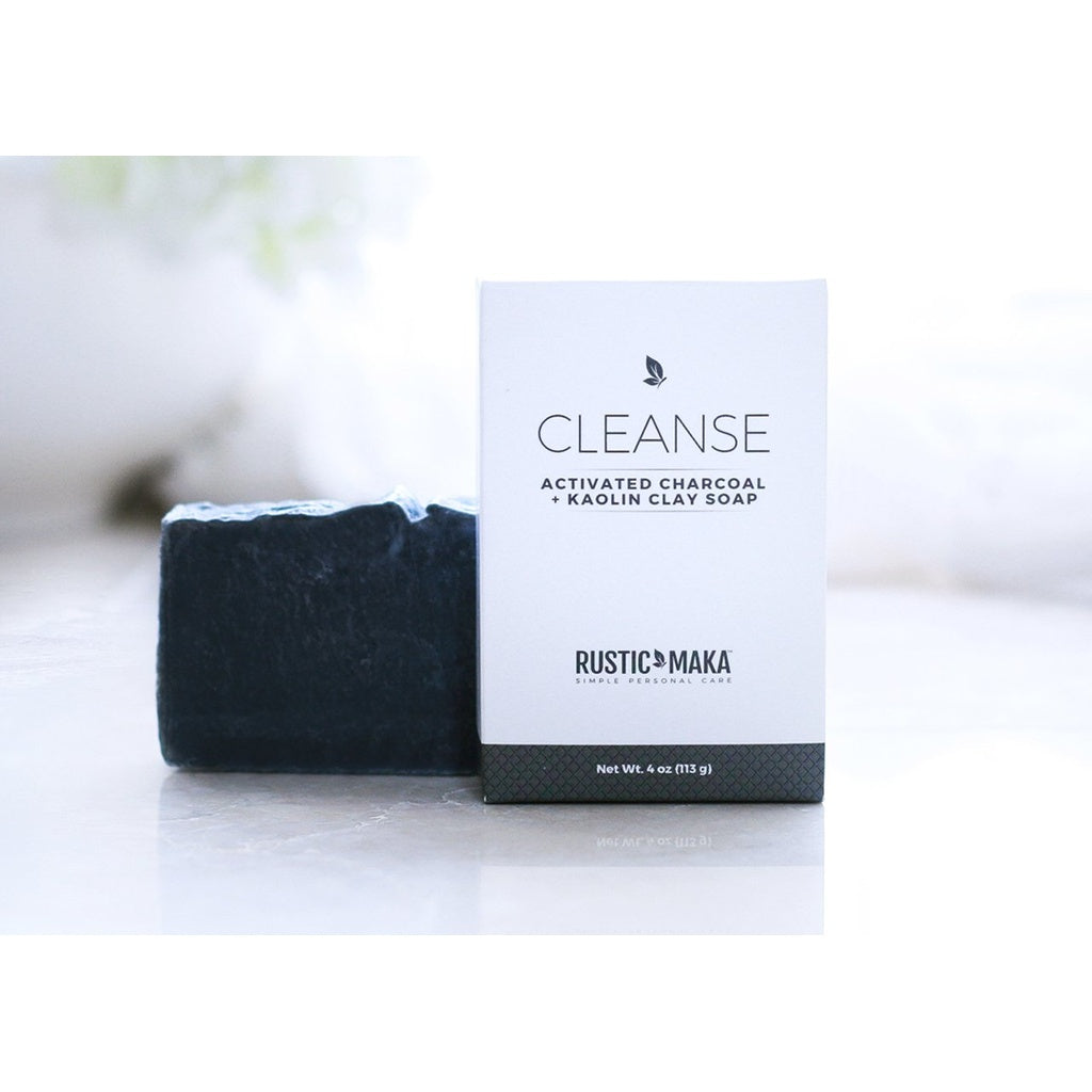CLEANSE Activated Charcoal + Kaolin Clay Soap (4 oz)
