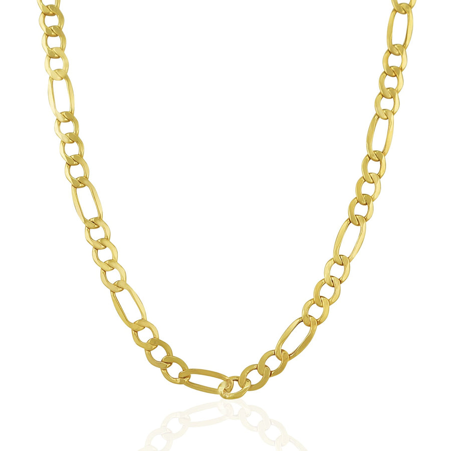 6.5mm 14k Yellow Gold Lite Figaro Chain