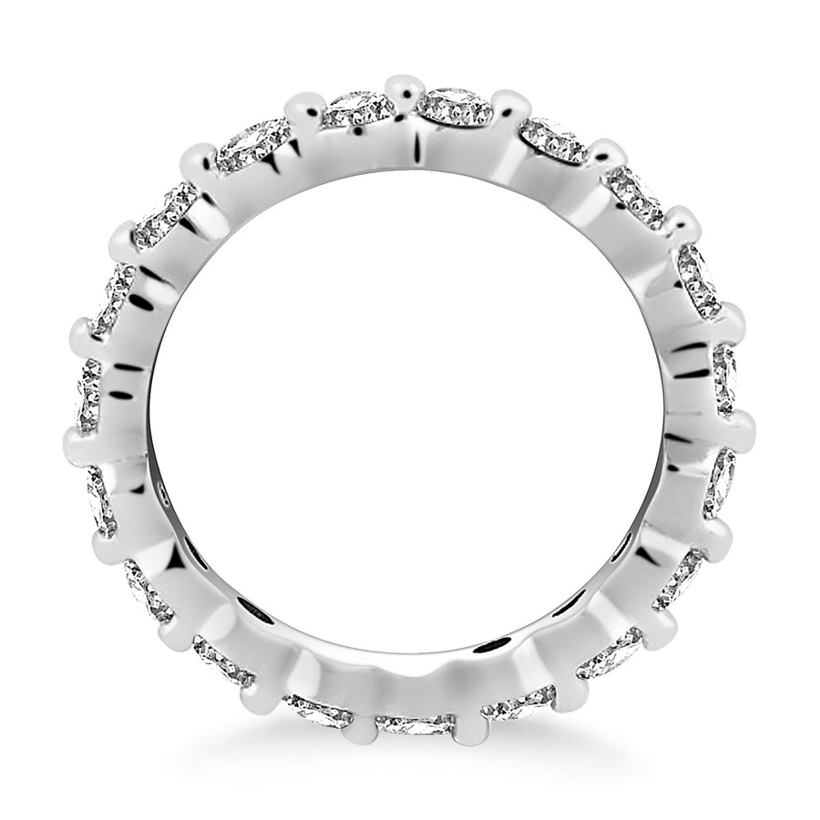 14k White Gold Common Prong Round Cut Diamond Eternity Ring