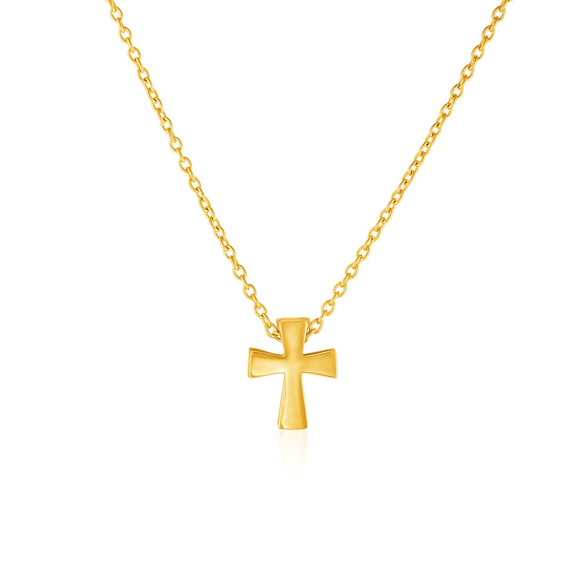 14k Yellow Gold with Cross Pendant