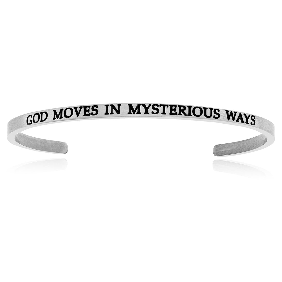 Stainless Steel God Moved Cuff Bracelet