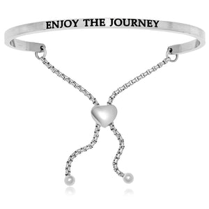 Stainless Steel Enjoy The Journey Adjustable Bracelet