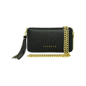 Laconic Style Trouvaille Leather Chain Clutch / Wristlet - Hunter Green