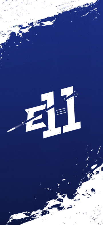 E11 Phone Wallpaper Blue