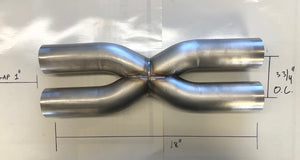 "2.5"" X-pipe 304 stainless steel"