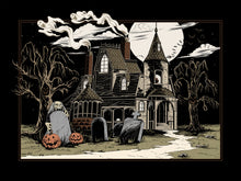 Load image into Gallery viewer, Haunted House Art Print- Midnight Version