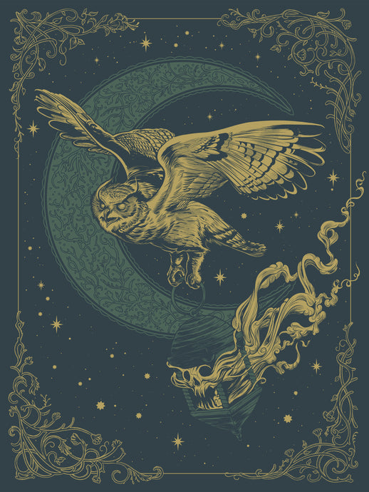 Night Owl Screen Print Poster