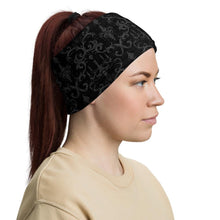 Load image into Gallery viewer, Blood Moon Damask Neck Gaiter