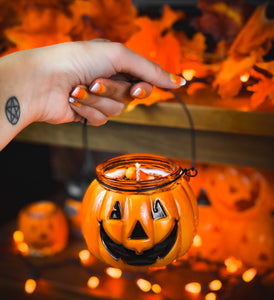 Jack-O'-Lantern Candy Bucket Candle