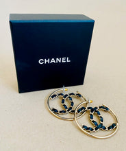 Load image into Gallery viewer, Chanel CC hoop earrings